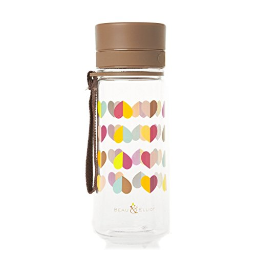 Beau & Elliot Confetti Hearts Drinking Water Bottle with Strap 500ml by Cargo