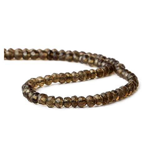 Natural Cuarzo ahumado rondelle facetado semi granos flojos de la piedra preciosa preciosos para la fabricación de joyas pendiente collar de la pulsera 2 mm 3 mm 4 mm 5 mm 6 mm 7mm 8mm