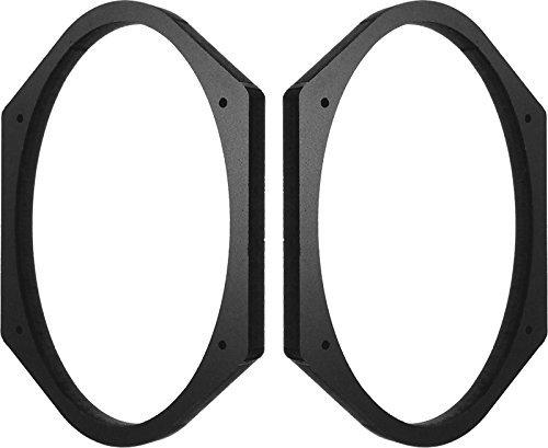 "5x7"" / 6x8"" Speaker Spacers Depth Extender Extending Rings - 1/2"" thick - 1 Pair - SSK68K - Stackable - Perfect For Framing Fiberglass Enclosures"