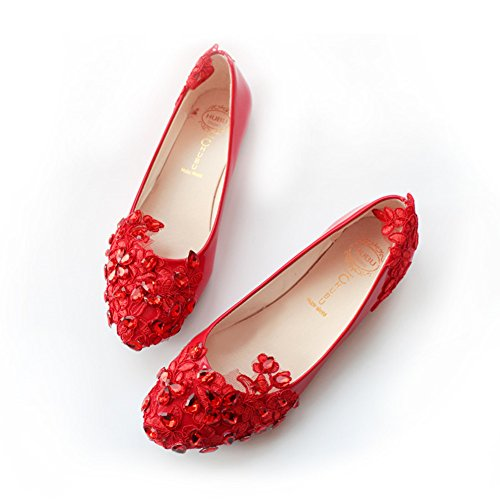 Top 10 best selling list for red lace flat wedding shoes