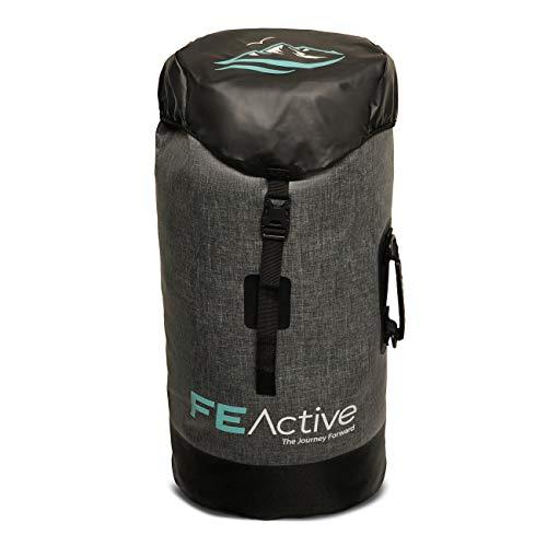 FE Active - Bolso Impermeable 40 litros Mochila a Prueba de Agua Estanca para Deportes Acuáticos y Extremos al Aire Libre, Acampada, Mochilero, Senderismo, Camping | Diseñado en California, EE