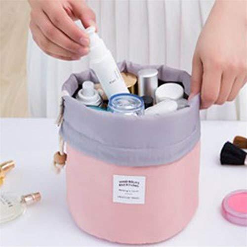 ZJXYYYzj Trousse De Maquillage, Sac cosmétique Ronde de la Mode Maquillage Sac étanche Voyage Makeup Organisateur Femme Stockage Kit Case Lady Toiletry Box (Color : Pink)