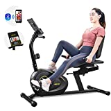 Merax Magnetic Recumbent Exercise Bike | 8-Level Resistance | Quick Adjust Seat