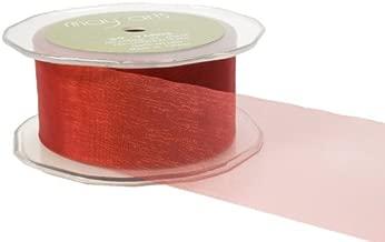 May Arts 1-1/2-Inch Wide Ribbon, Dark Red Sheer