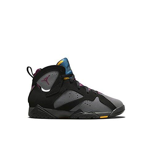 Nike Jordan 7 Retro BP, Zapatos de recién Nacido para Bebés, Negro/Gris/Rojo (Black/Brdx-Lt Grpht-Mdnght FG), 27 1/2