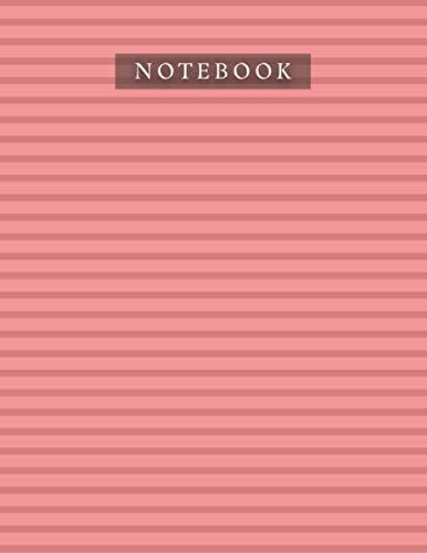 Notebook Permanent Geranium Lake Color Horizontal Line Baby Elephant Pattern Background Cover:...