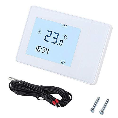 ZLININ Controlador de Temperatura del Estera de Calor, Máquina de Controlador de Temperatura del termostato de calefacción eléctrica de la Pantalla táctil Ntelligent (° F