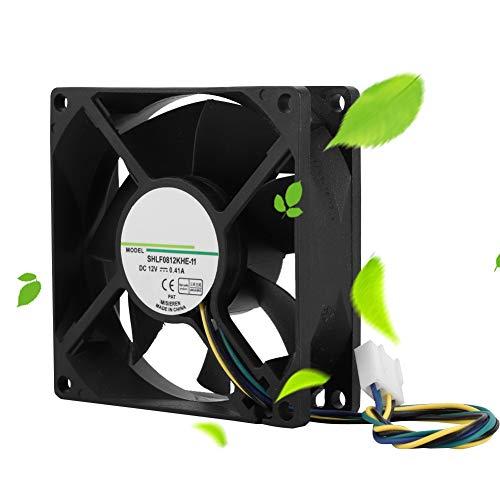 Tenpac Ventilador de refrigeración 12V, Disipador de Calor de los Ventiladores de la CPU 4000Rpm, Radiador 4Pin PWM, Ventilador Enfriador Flujo Aire para disipación Calor Ordenador PC computadora