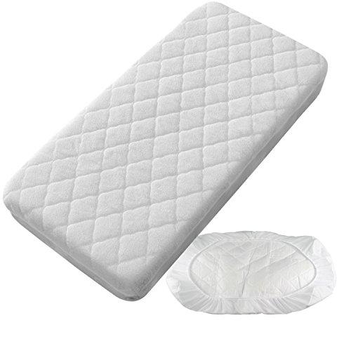 Pekitas Matratzen-Schutzbezug fürsBabybett, 50x 80cm, wasserdicht und gepolstert