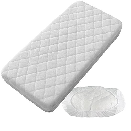 PEKITAS Waterproof Quilted Mattress Protector - Carrycot/Car 40 x 80 cm Made in Spain
