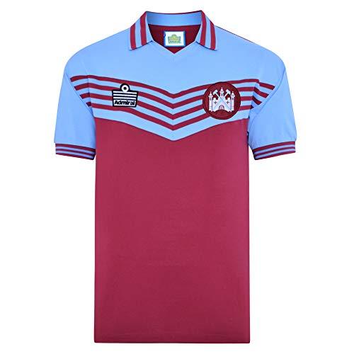 Score Draw West Ham United 1980 Admiral Retro Shirt ClaretSky Large Cotton
