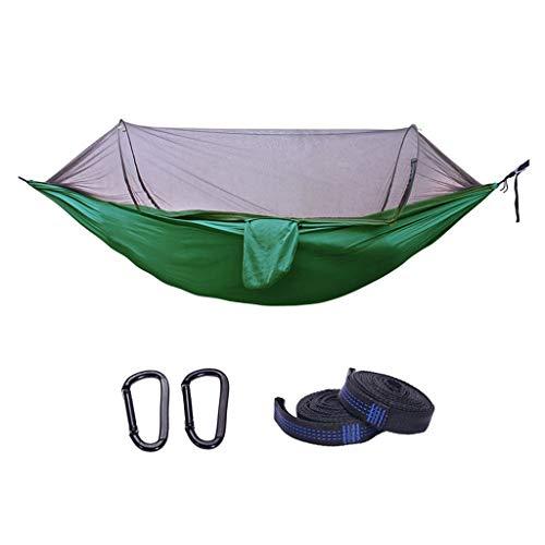 WHL Hamacas Acampar Hamaca con la Hamaca árbol Correas, Hamaca portátil paracaídas de Nylon for Viajes con Mochila Muebles y Accesorios de Patio