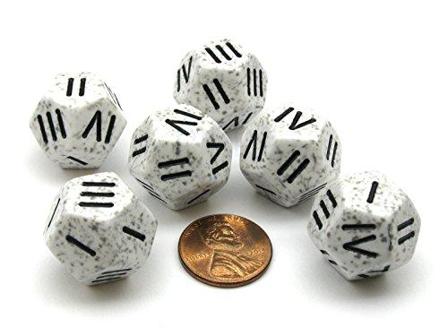 Chessex Speckled Roman d4 Arctic Camo Dice (Set of 6)