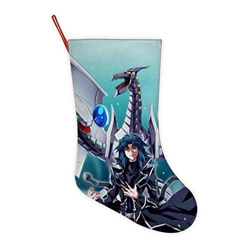 Yu-Gi-Oh Dragon Large Christmas Stocking,3D Printed Festival Party Home Decorative Socks Gift Bags Santa/Deer