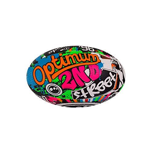Optimum Men's Street Ii Rugby Ball, Multicolour, Size 5