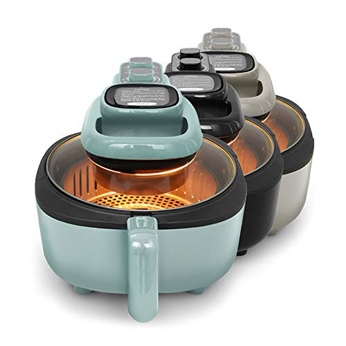VOTO Cook Air 5QT - Direct viewing glass Air Fryer, Air Frying, Roasting, Reheating & Dehydrating with 5-Quart Fluorine Resin Coated Basket (MINT)