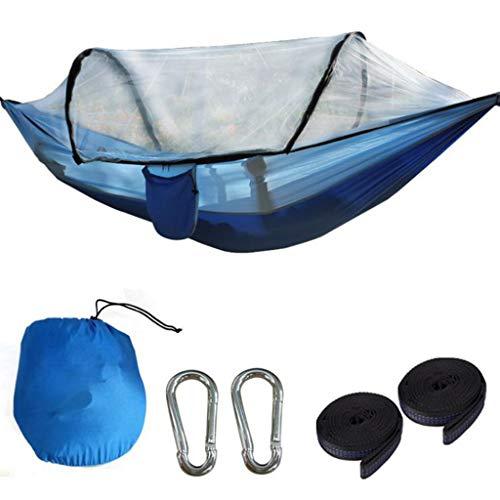 gszfsm001 - Hamaca portátil para 2 o 2 personas con mosquitera, paracaídas, cama colgante de camping, columpio de cama, herramienta de viaje de camping al aire libre