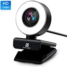 PC Webcam for Streaming HD 1080P, Vitade 960A USB Pro Computer Web Camera Video Cam for Mac Windows Laptop Conferencing Gaming Xbox Skype OBS Twitch Youtube Xsplit GoReact with Microphone & Ring Light