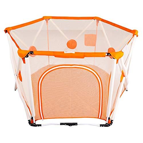 NYDZDM Parcs pour Enfants, barrière de sécurité pour bébé Pliant la Hauteur intérieure 82,5 cm (Color : Orange)