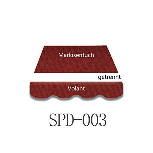 Vana deutschland GmbH Markisenstoff Markisenbespannung Ersatzstoff mit Volant fertig genäht 4m x3m (SPD003)