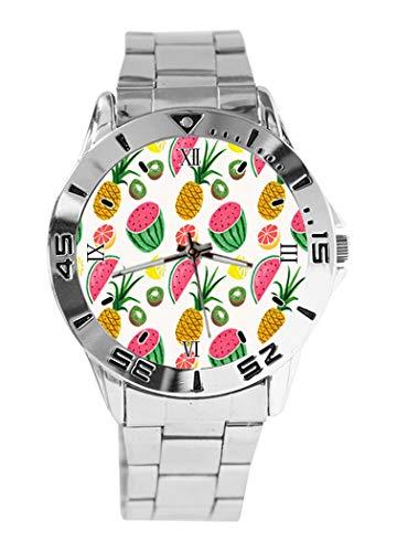 Reloj de pulsera analógico de cuarzo con diseño de piña de frutas,...