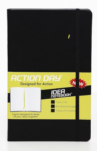 Idea Notebook - Layout Designed to Keep All Your Ideas Together - Size 5x8 - Black Hard Cover - (Plain Notebook (+) Sketching (+) Writing Thoughts (+) Passing Notes)