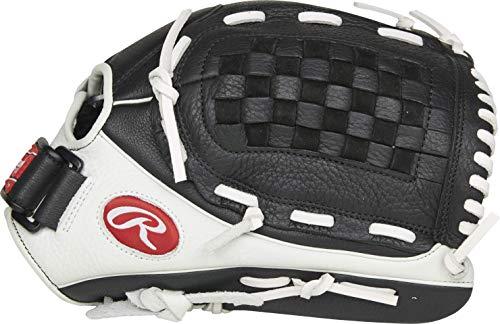 Rawlings Mädchen RSO125BW-3/0 12 1/2 BSK/FLCV Softball-Handschuh, schwarz/weiß, 12.5 inch