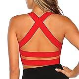 Snailify Sujetador Deportivo para Mujer Criss Cross Racerback Yoga de Alto...