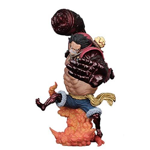 Siyushop Mono de una piezaD. Luffy Gear4 Kong Gun -Crimson Color Toy, Negro / Azul - 9.4 Pulgadas de Alto