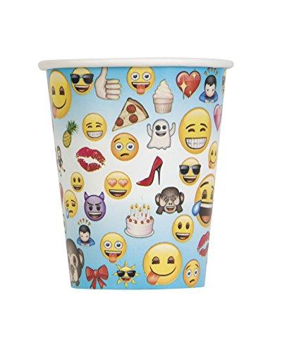 Unique Party 50602Ft Kunststoff Emoji-Tischdecke , 8er-pack