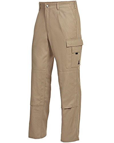 BP 1486-060-44-56 - Pantalones de trabajo con respaldo elástico, 300,00 g/m², algodón puro, color arena