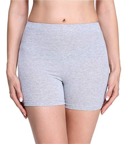 Merry Style Damen Shorts Radlerhose Unterhose Hotpants Kurze Hose Boxershorts aus Viskose MS10-283(Melange,S)