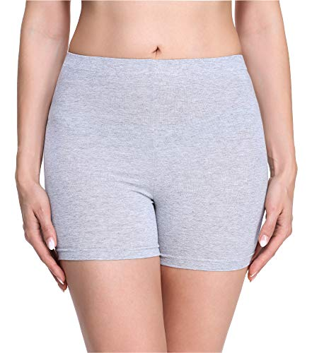 Merry Style Damen Shorts Radlerhose Unterhose Hotpants Kurze Hose Boxershorts aus Viskose MS10-283(Melange,M)