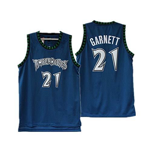 WZ Basketball Jersey Minnesota Timberwolves 21# Garnett Retro Mesh Embroidery Jersey Vests Tops Sleevless Fan Uniform Jerseys,1,S:170cm//50~65kg