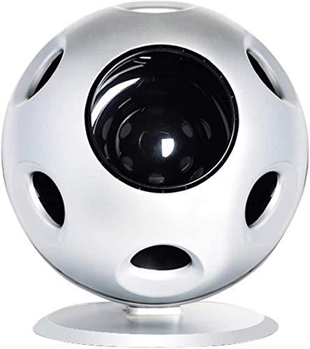 Mopoq Sin Hojas esférico Ventilador, Escritorio Remoto Smart Control purificador de Aire, Ultra silencioso estéreo de Suministro de Aire, Conveniente for el hogar o en la Oficina (Color : Blanco)