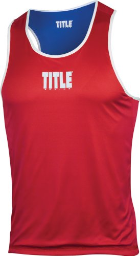 TITLE Boxing Reversible Amateur Boxing Sets, Red/Blue, Youth Medium