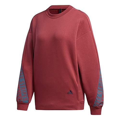 adidas Damen 3-Streifen Wording Sweatshirt, Legred, S