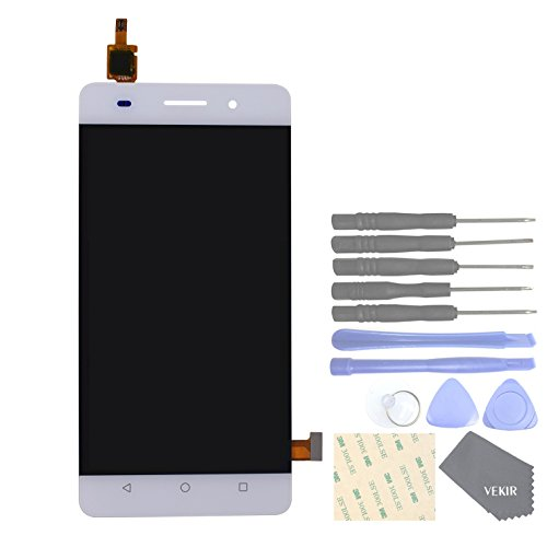 VEKIR Cell Phones Replacement Parts for Huawei Honor 4C G Play Mini Complete Display Touch Digitizer Screen [NO Screen Frame](White)