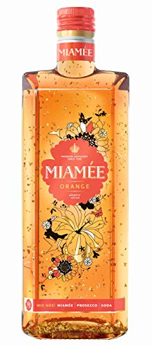 MIAMÉE ORANGE, Aperitif- Likör 15% vol., fruchtig-leichter Genuss, Orange, vereint mit Holunderbeere und einem Spritzer Hibiskus, mit feinem Goldschimmer veredelt (3 x 0.7 l)