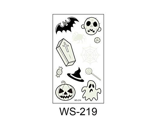 4-Pack Halloween Lichtgevende Tatoeage Ghost Voor Kinderen Fake Tattoo Heks Gloeit In Donkere Waterdichte Tijdelijke Tattoo Stickers