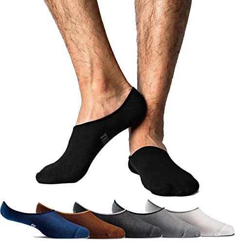 Thirty48 Men No Show Loafer Socks, Boat Shoe Liners with CoolPlus, Non-Slip...