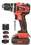 iBELL BM18-60 20V Brushless Impact Driver Drill (Cordless) with 2 Batteries, Charger, Case and Screw Driver Bit - 1 Year Warranty.