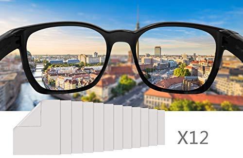 Karlsruhe 12 Stücke Mikrofaser-Reinigungstücher - 15 x 18 cm zum Reinigen von Kameralinsen Brillen Sonnenbrillen und Laptops mit umweltfreundlicher Verpackung Brillenputztuch Microfasertuch