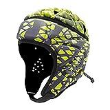 AUTUUCKEE Casco de rugby de competición, adulto, suave, para deportes al aire libre, protección de la cabeza de fútbol (C)