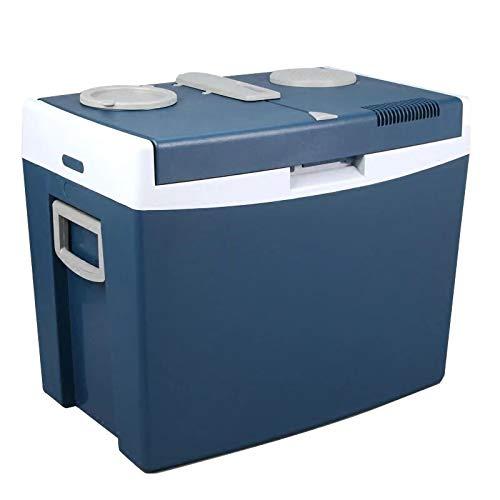 HALIGHT Refrigerador portátil, 12 voltios congelador automóvil, 35 litros (37 Cuartos) Mini refrigerador congelador, para Conducir, Viajar, Pescar, al Aire Libre y en el hogar