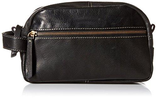 Timberland Men's Rugged Wash Leather Travel Kit, Black
