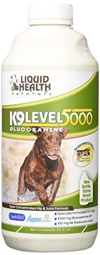 Liquid Health K9 Level 5000 Glucosamine Chondroitin Opti MSM 8 or 32 oz (32 Ounces) [Package May Vary]