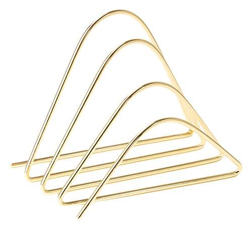 U Brands Metal Letter Sorter, Desktop Accessory, Gold (896U06-24)