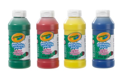 CRAYOLA 3927 - Botellas de Pintura Lavable (4 Unidades, 237 ml)