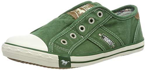 MUSTANG Damen 1099-401-709 Slip On Sneaker, Grün (Grasgrün 709), 40 EU